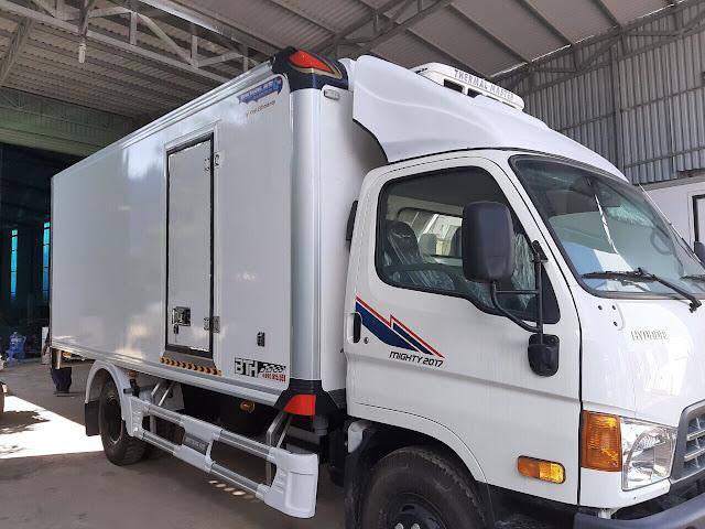 Giá mui lướt gió xe tải đông lạnh 3.5 tấn