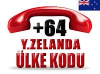 +64 Yeni Zelanda ülke telefon kodu