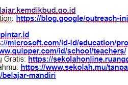 Kumpulan Situs/Laman Belajar Daring Gratis Yang Bisa Digunakan Gratis Selama 14 Hari Penghentian Aktifitas Sekolah
