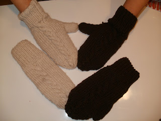 jak zrobić rękawiczki na drutach z jednym palcem