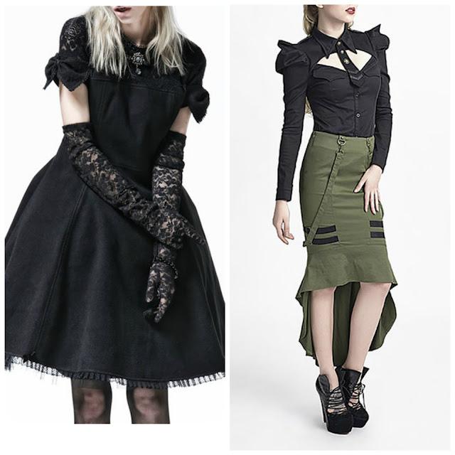 goth lolita punk rave military designer clothes