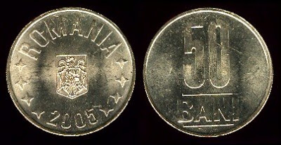 Romania 50 Bani (2005) 23.6mm