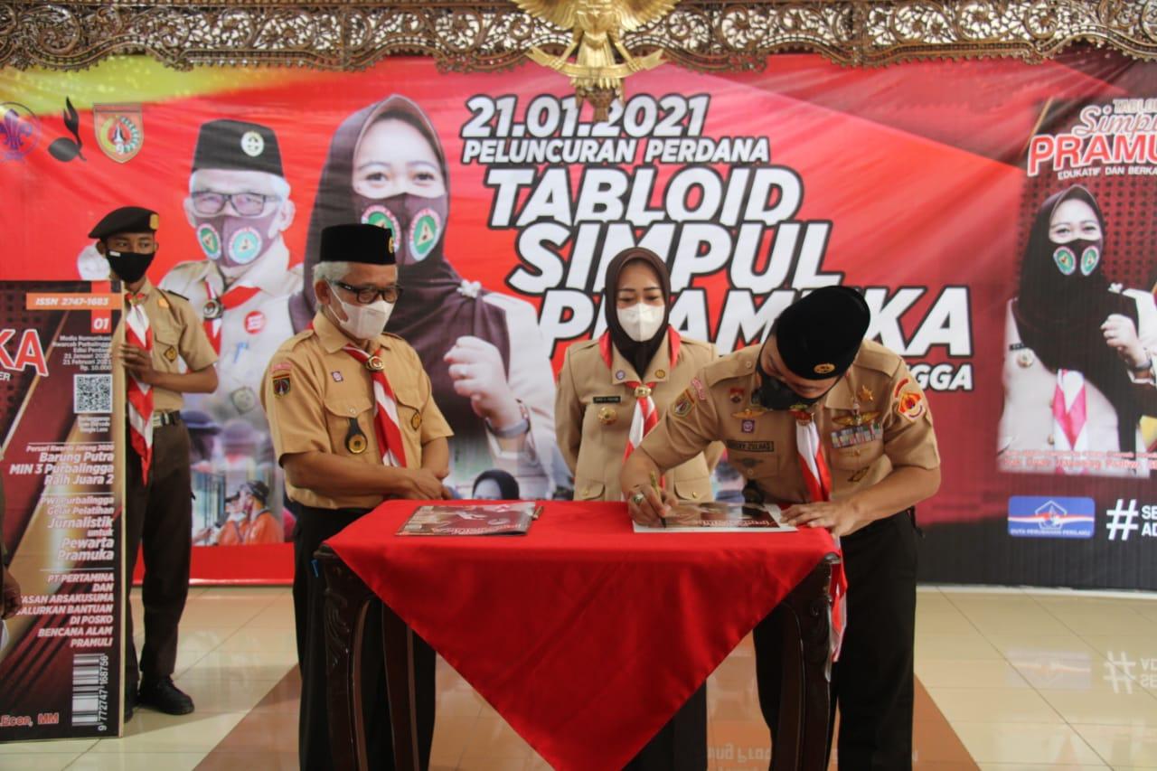 Kwarcab Purbalingga Launching Tabloid Simpul Pramuka Edisi Pertama