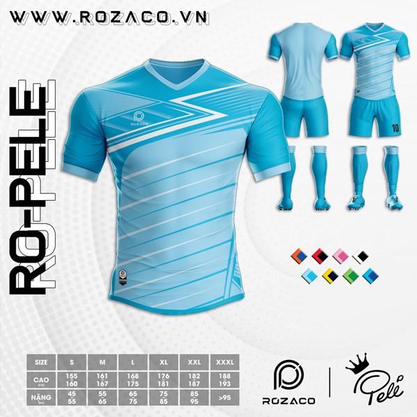 Áo Không Logo Rozaco RO-PELE Màu Xanh Ya