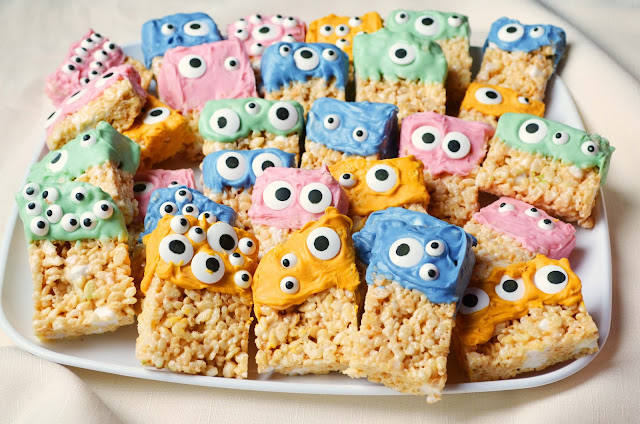 Our Beautiful Mess: Rice Krispie Treat Monsters for Halloween