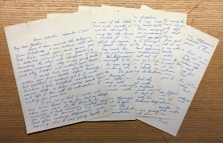 Five-page letter from Maurer to his mother