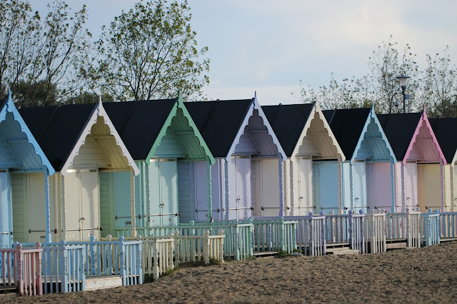 West mersea beach huts, essex