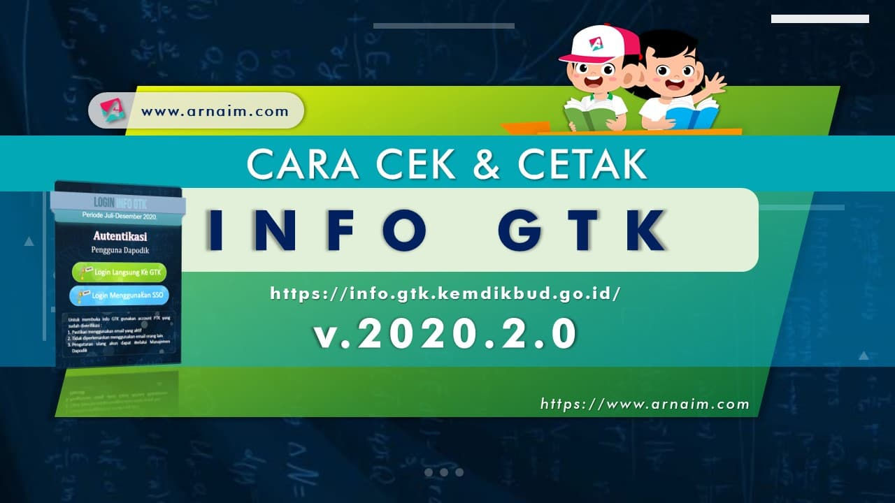ARNAIM.COM - CARA CEK & CETAK INFO GTK v.2020.2