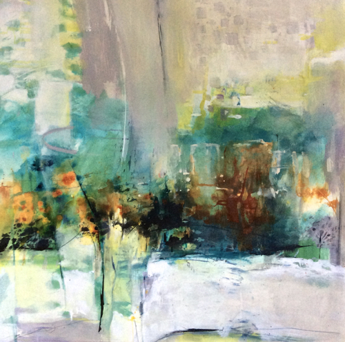 Contemporary Abstract Painting Nature Lifts Me Up By Intuitive Artist Joan Fullerton
