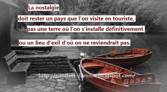 Belle citation sur la nostalgie