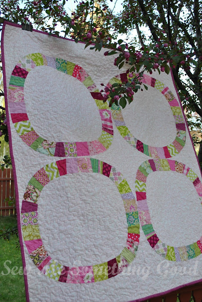 Sew Good Cherry Blossoms Baby Quilt