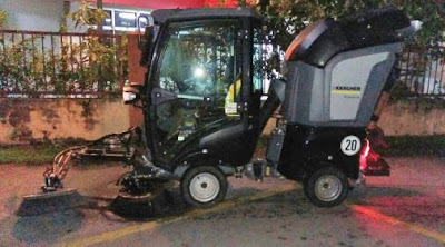 mini road sweeper for Damansara Uptown