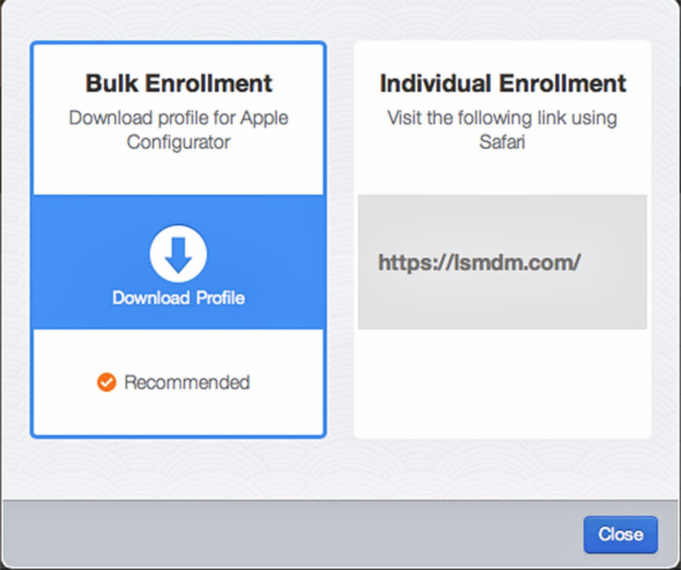 Multi-Platform Education Technology: Enroll iOS Device in