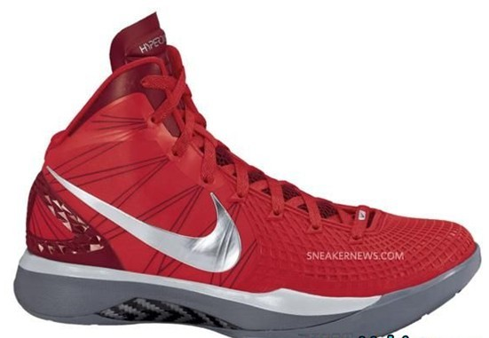 online store bd5f2 c37d5 Attack the rim boldly in the Nike Zoom Hyperdunk 2011 Supreme Sport Red Metallic  Silver. The Blake Griffin-endorsed sneaker gets an all-red makeover with ...