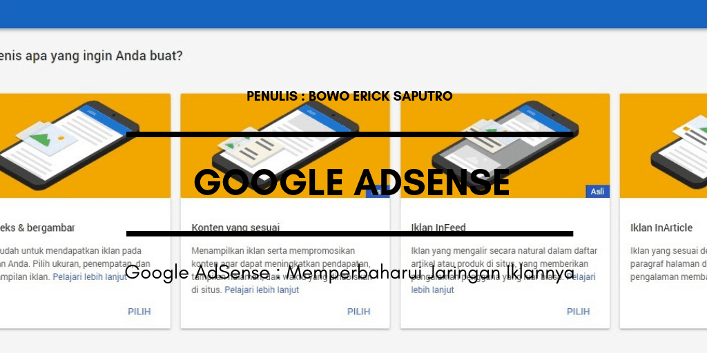 Google AdSense : Memperbaharui Jaringan Iklannya