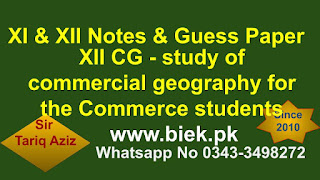 study of commercial geography for the Commerce students