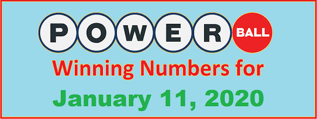 PowerBall Winning Numbers for Saturday, January 11, 2020