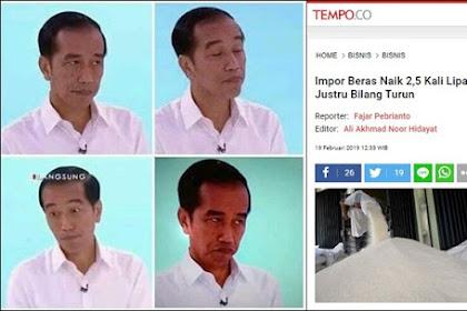 Impor Beras Naik! Jokowi Bilang Turun, Dahnil: Semburan Hoax Petahana yang Tak Henti