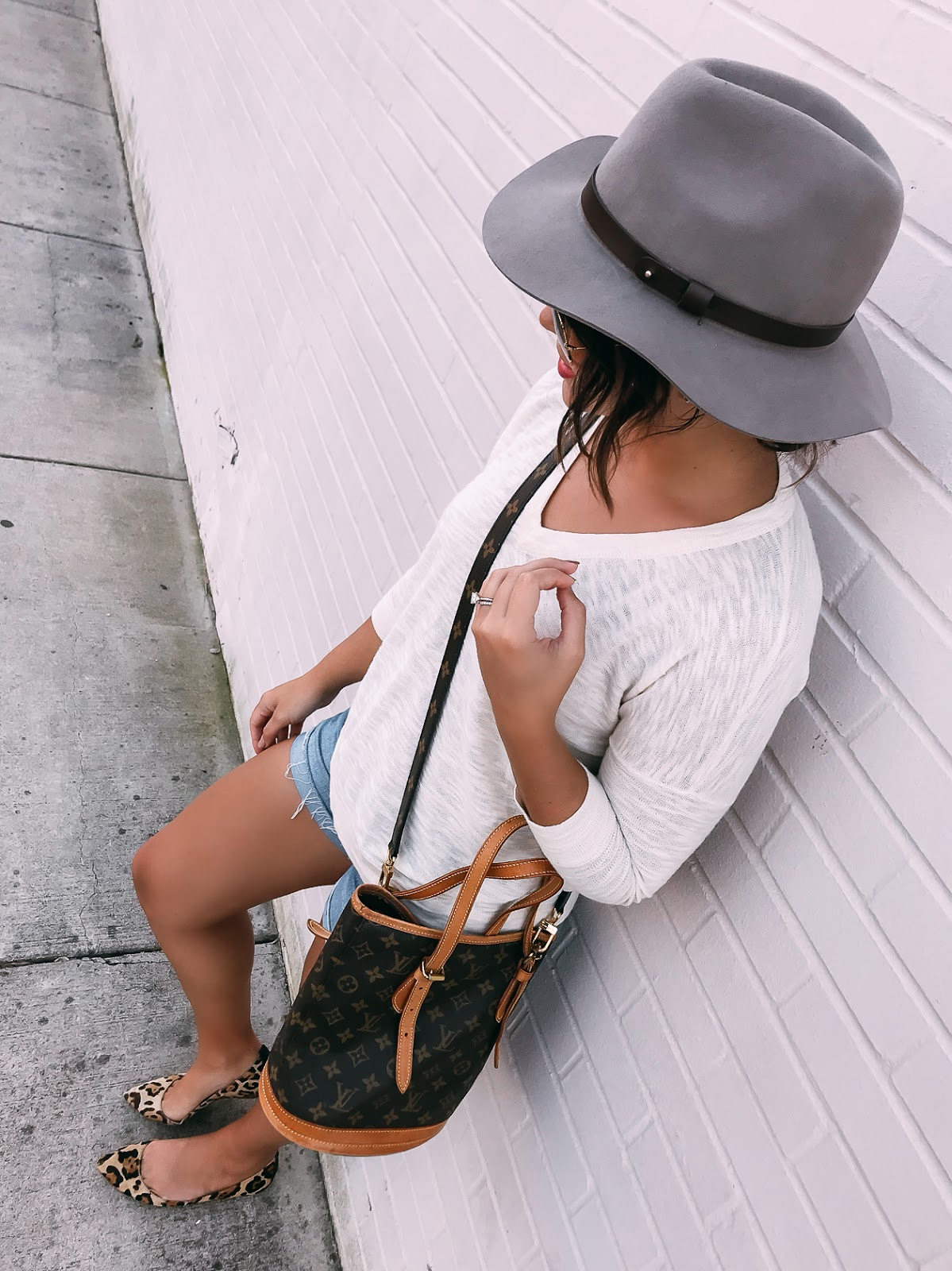 fall transition style, fall style, vintage louis vuitton