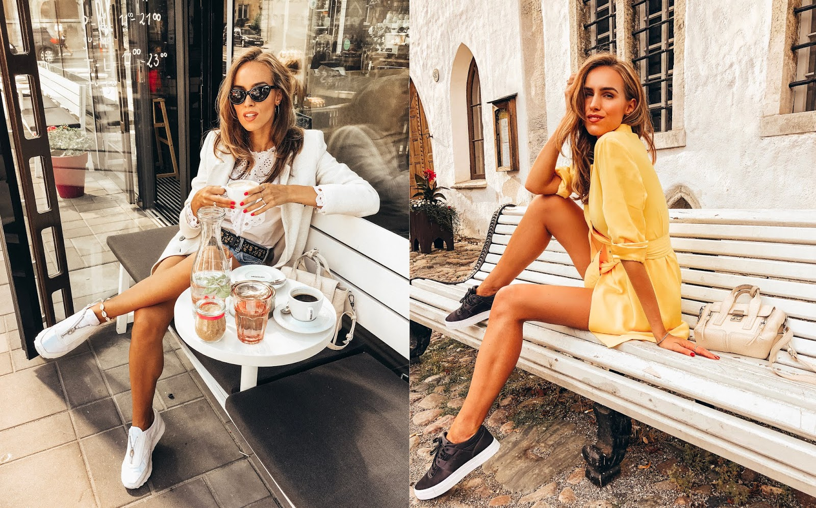 blazer shorts sneakers outfit summer