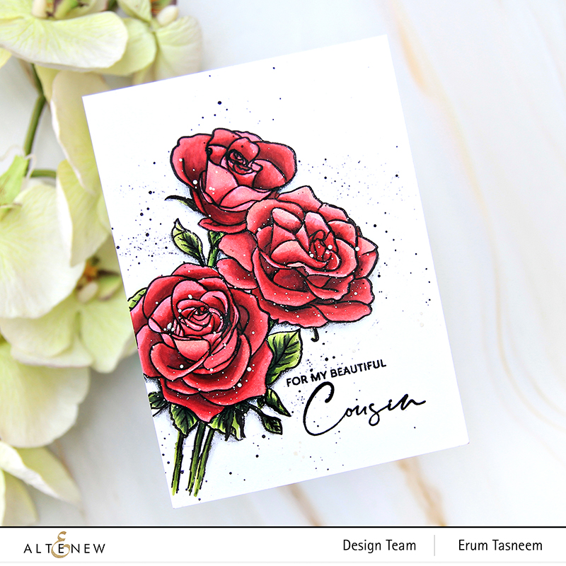 Altenew Paint-A-Flower: Rosa Floribunda | Erum Tasneem | @pr0digy0
