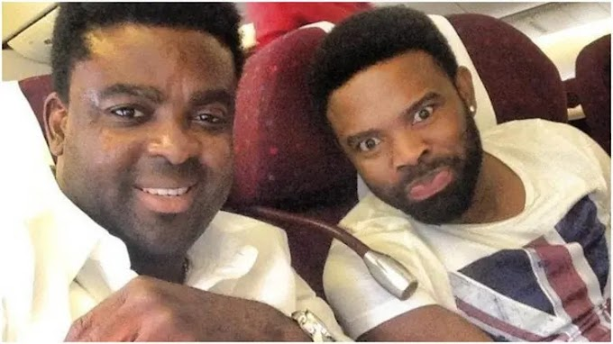 Actor, Kunle Afolayan prays for his blood brother and colleague, Gabriel Afolayan