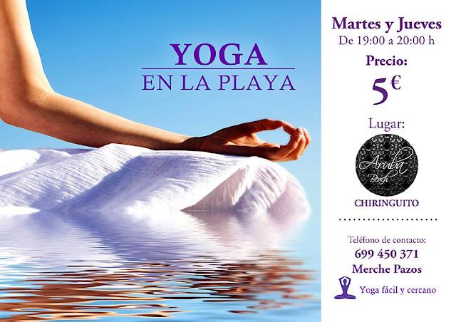 Yoga en la Playa, más información Mercedes Pazos 699 450 371