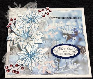 Vintage Winter Weihnachtskarte zum Geburtstag