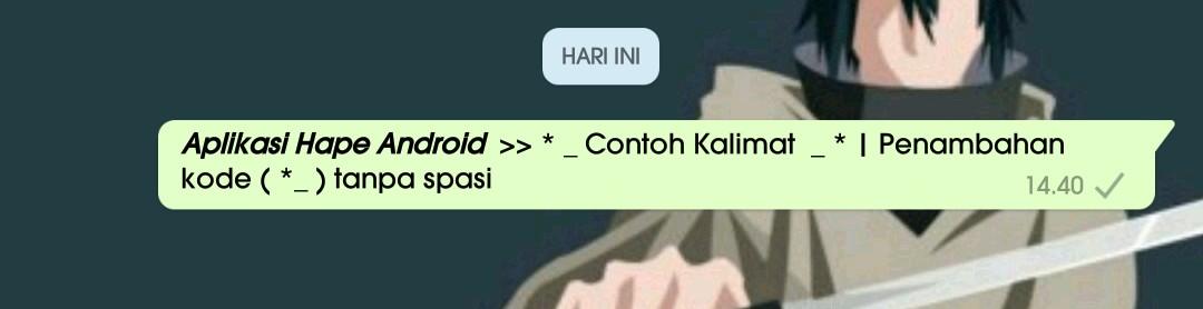 4 Cara membuat variasi tulisan unik di whatsapp