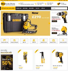 Giao diện blog bán hàng Dụng cụ cơ khí