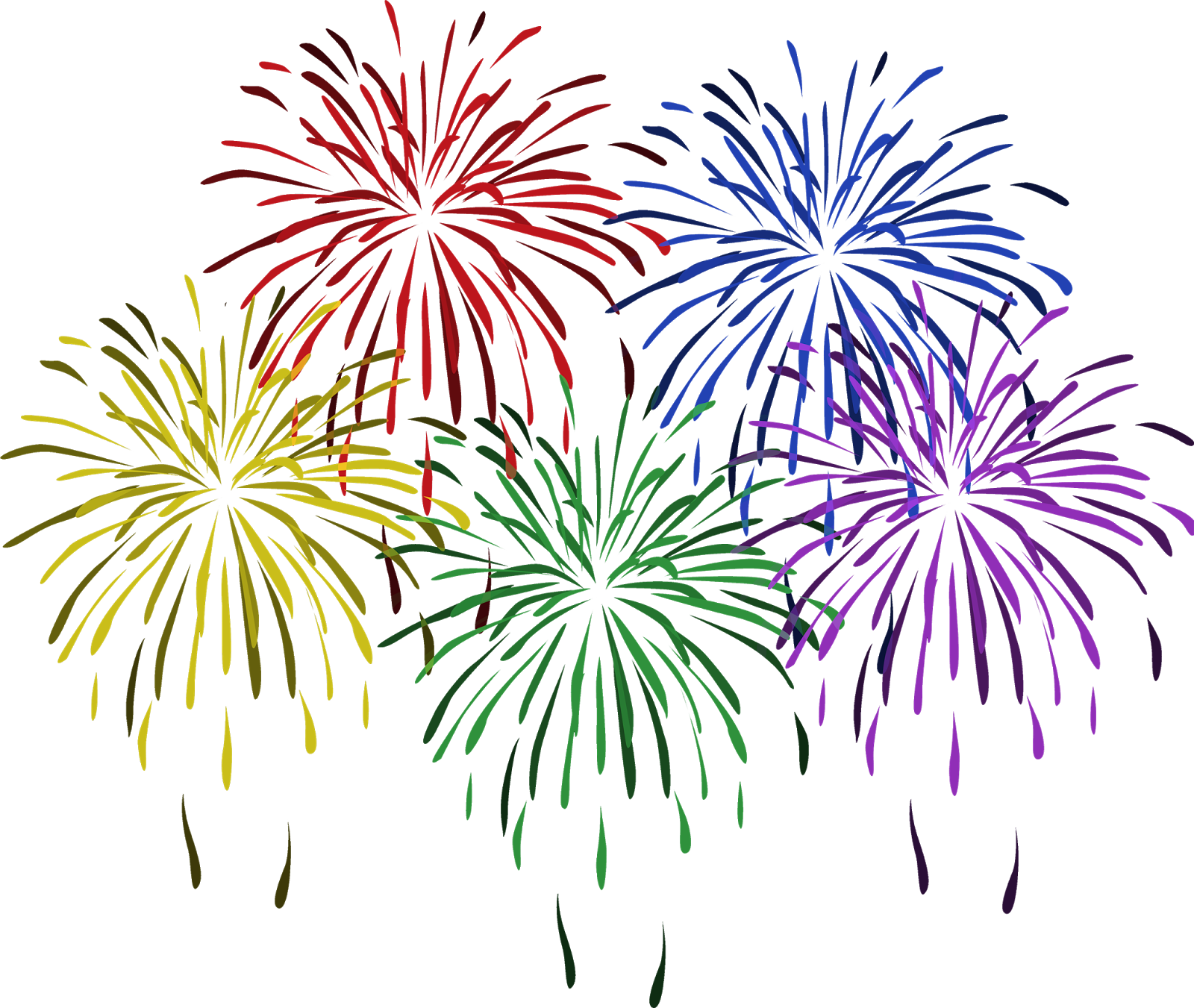 Happy New Year Fireworks Clipart PNG - EDITOPEDIA