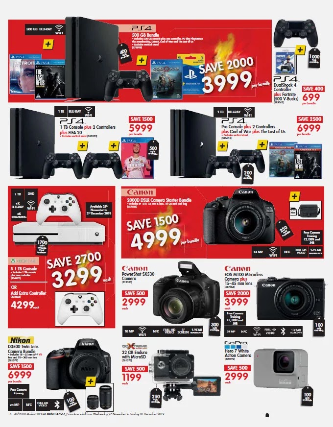 Makro Black Friday 2019 Gaming and Camera Deals