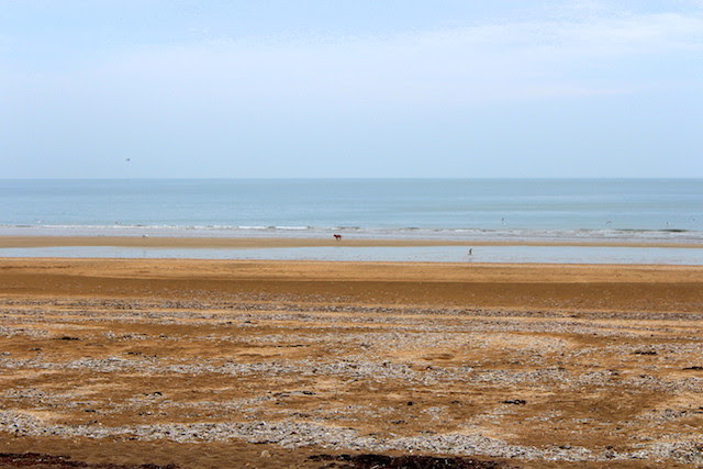 The beach in Trouville