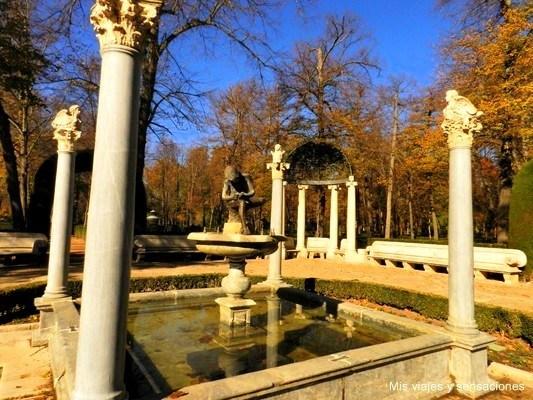 Fuente del niño de la espina, jardín de la Isla, Aranjuez