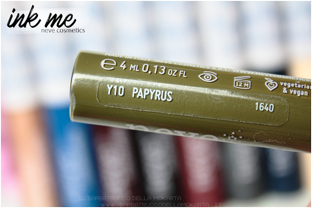 PAPYRUS  INKME EYELINER NEVE COSMETICS REVIEW RECENSIONE