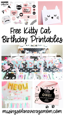 free kitty cat birthday printables