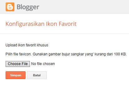 Widget Favicon Blogspot versi lama
