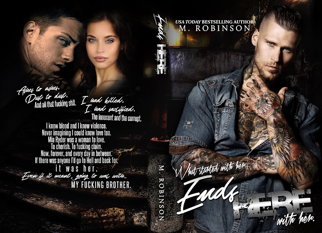 COVER REVEAL ~ ENDS HERE (Road to Nowhere Book 2) by M. Robinson