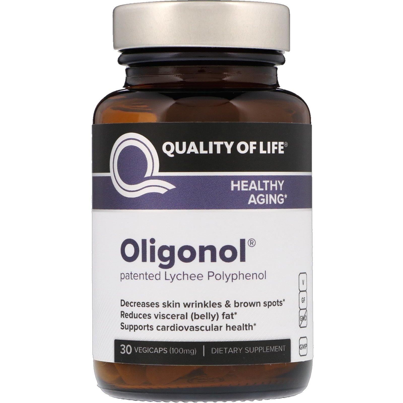 Quality of Life Labs, Oligonol, 100 мг, 30 вегетарианских капсул