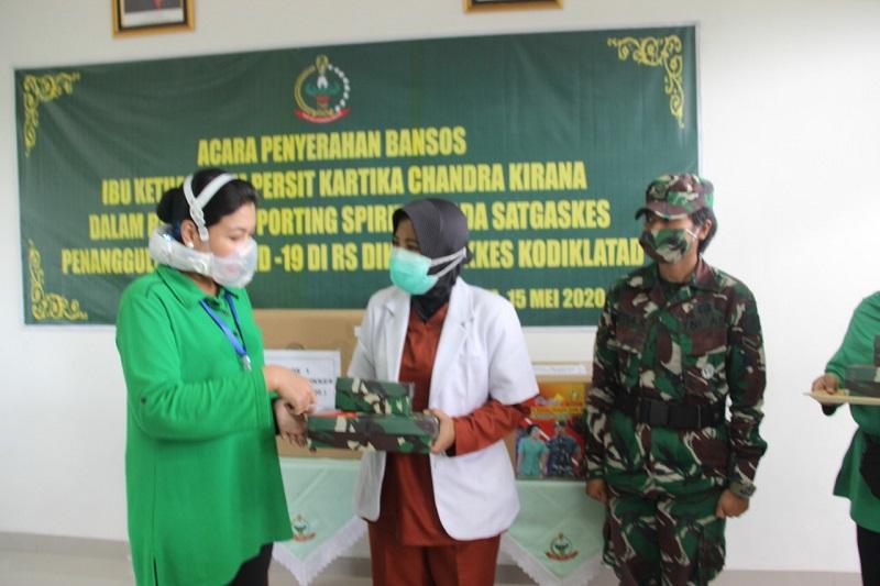Ibu Hetty Andika Perkasa, Sambangi RS. Pusdikkes Kodiklatad