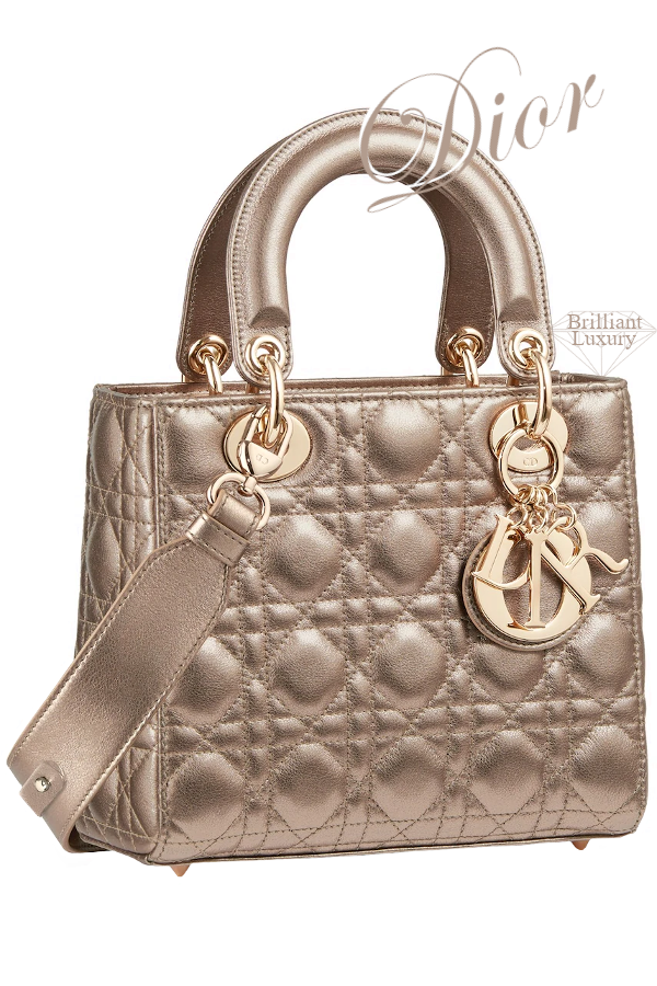 Dior Lady Dior Light Bronze-Colored My ABCDIOR Calfskin Bag #brilliantluxury