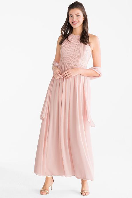 Fit & flare chiffon dress