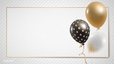 free golden balloon png images