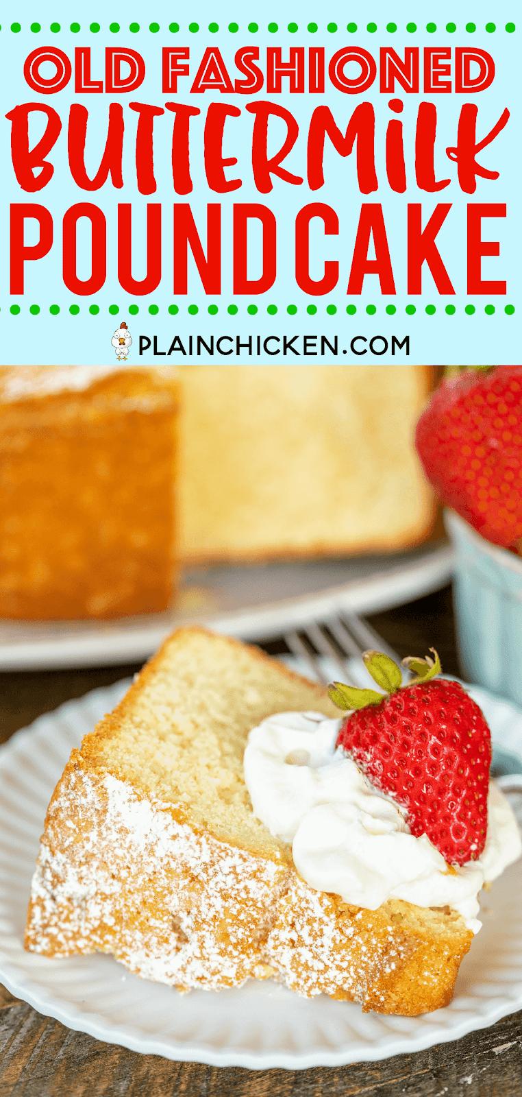 Old Fashioned Southern Pound Cake Recipe
