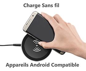 Chargement sans fil et les téléphones Android compatibles
