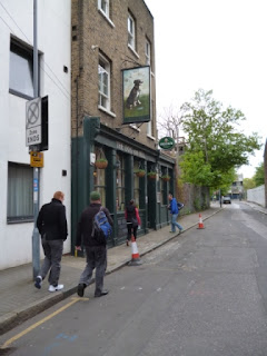 Heading to the Dog & Bell pub in Deptford