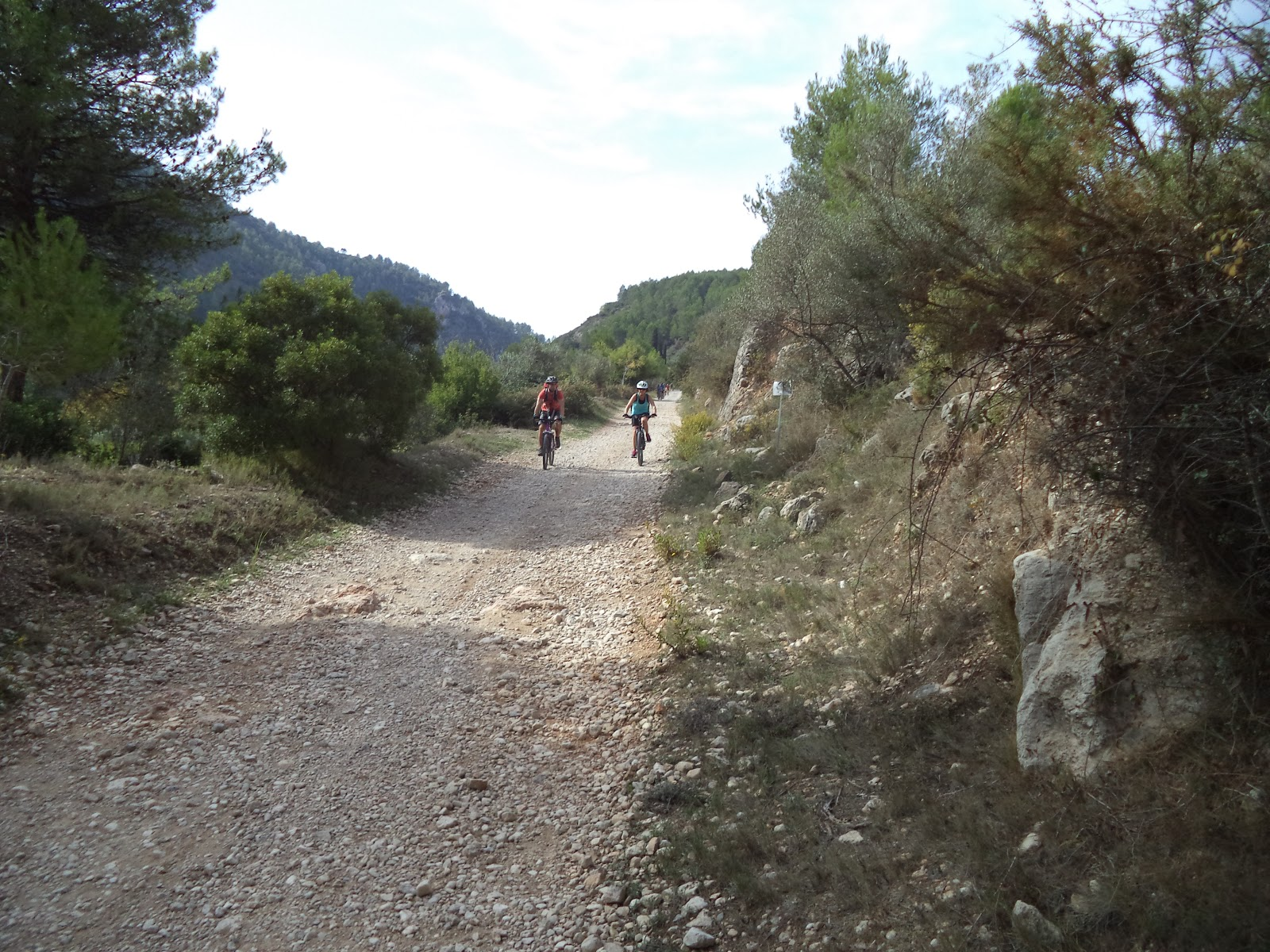 Cyclists on Serpis Greenway in Spain