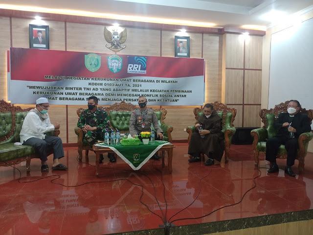 """Dandim Aceh Utara"""" Kerukunan Beragama Menjadi Satu Wadah Bingkai NKRI"""