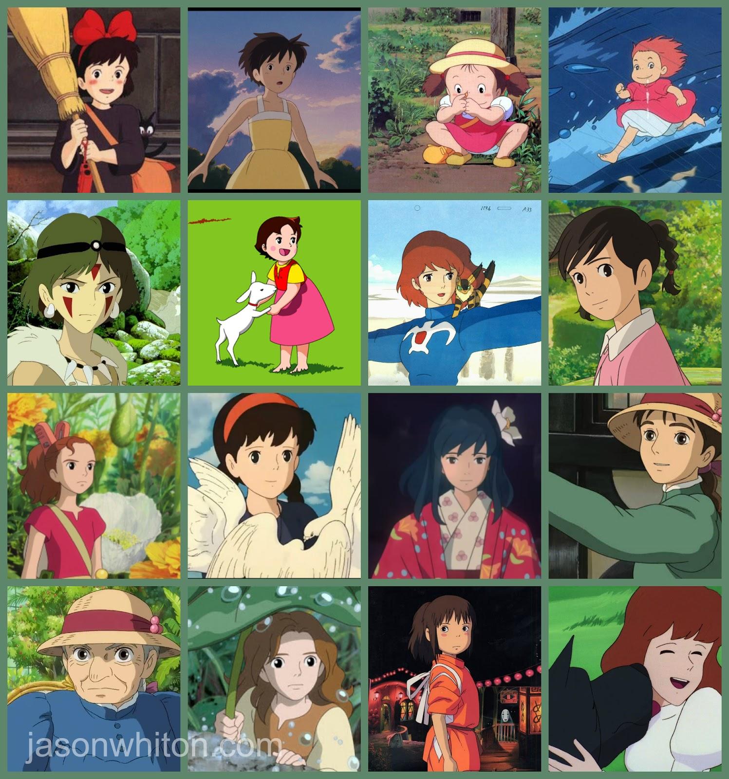 Studio ghibli characters collage