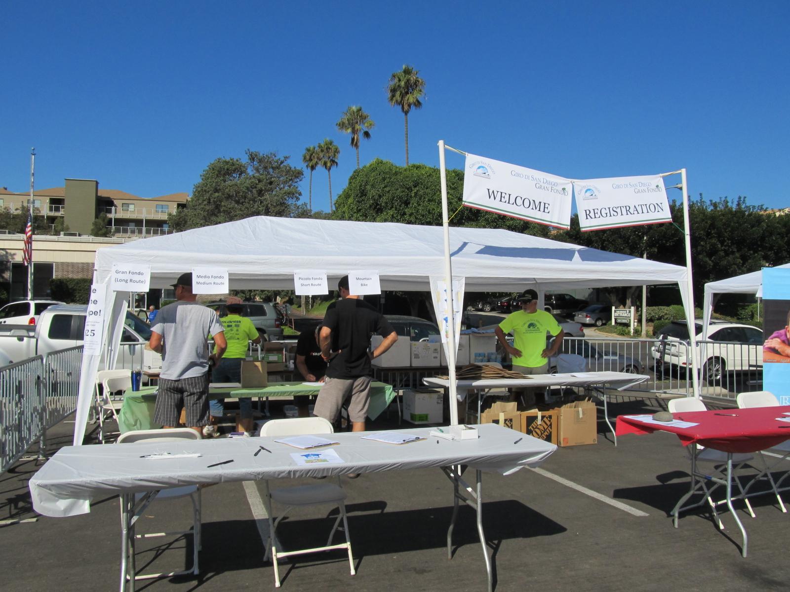 987a4f613 Giro di San Diego registration tent at Bike Expo in Solana Beach.